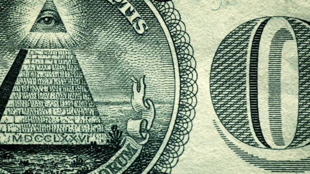 u.s. one dollar bill close-up details - conspiracy stock videos & royalty-free footage