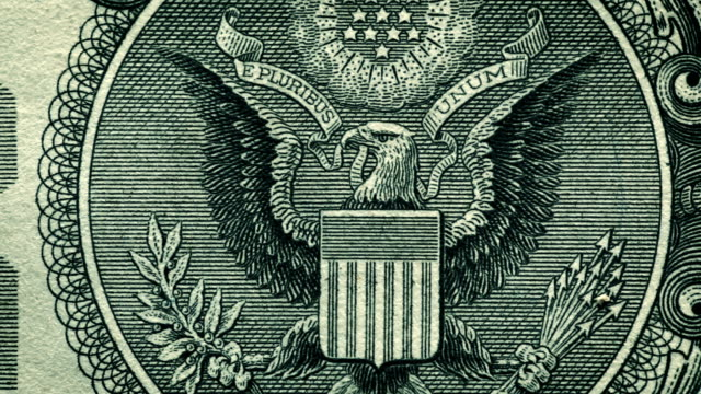 u.s. one dollar bill close-up details - business finance and industry stock videos & royalty-free footage
