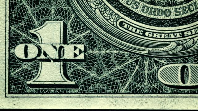 vídeos y material grabado en eventos de stock de información cerca de un dólar de estados unidos bill - imagen virada