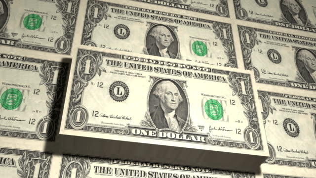 one dollar bill looping - us dollar note stock videos and b-roll footage