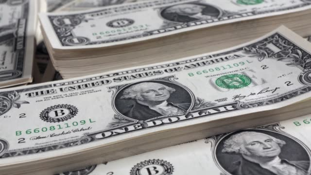 us one dollar bill stacks - large group of objects stock videos & royalty-free footage