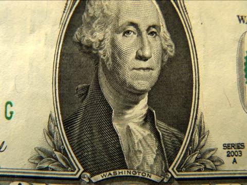 ecu, zo, one dollar bill - male likeness stock videos & royalty-free footage