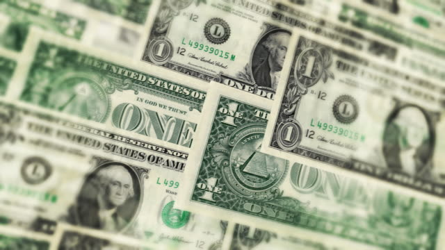 U.S. One Dollar Bills Background