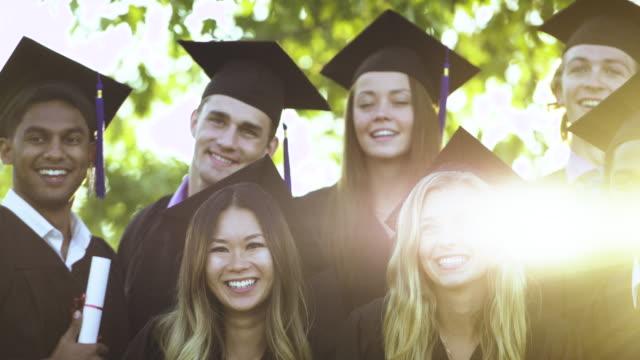 one ending, new beginnings - graduation stock videos & royalty-free footage