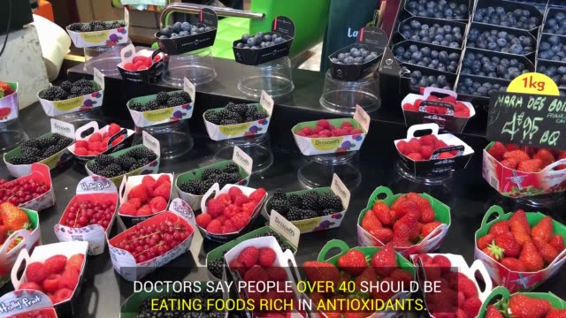 one great way skincare for people over 40 is eating foods rich in antioxidants, especially nuts. - skin care stock videos & royalty-free footage