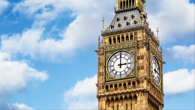 one hour on big ben - clock tower stock videos & royalty-free footage