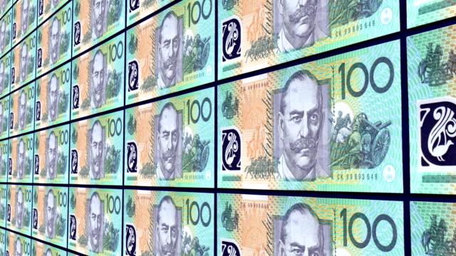 stockvideo's en b-roll-footage met honderd australische dollar opmerking - financieel item