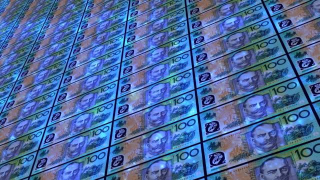 one hundred australian dollar note - debt stock videos & royalty-free footage