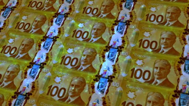100 kanadische dollar bill - männliche figur stock-videos und b-roll-filmmaterial