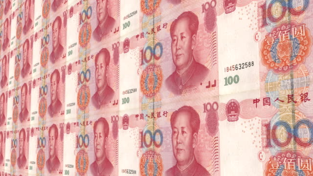 one hundred chinese yuan renminbi - chinese currency stock videos & royalty-free footage