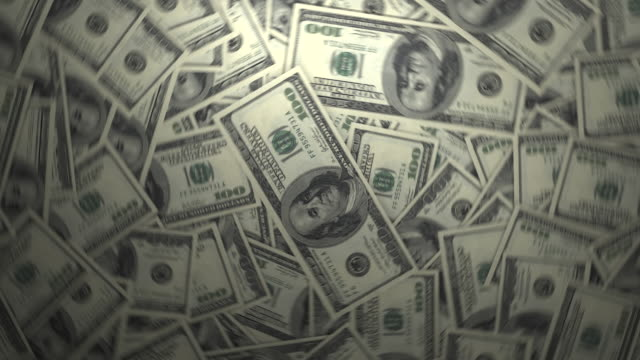 one hundred dollar bills. 4k - us dollar note stock videos and b-roll footage