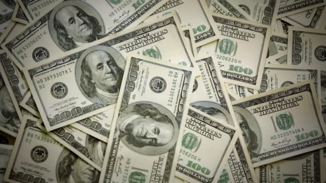 one hundred dollar bills - benjamin franklin stock videos & royalty-free footage