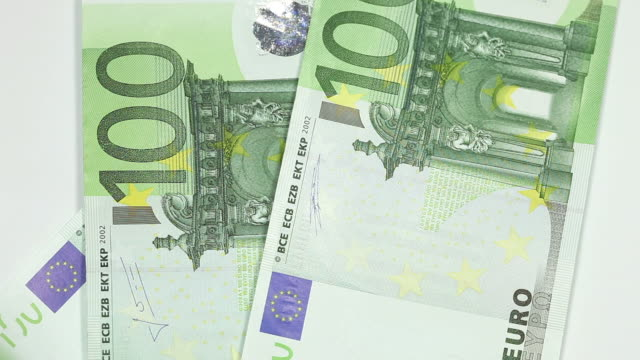 one hundred euro bills - money - mortgage stock videos & royalty-free footage