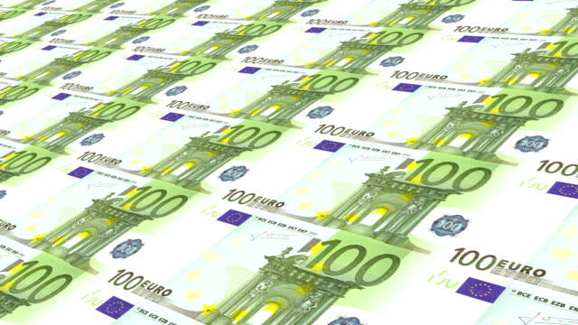 one hundred euros - euro symbol stock videos & royalty-free footage