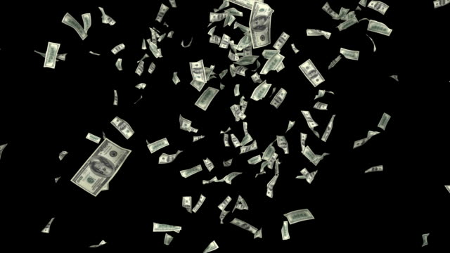 one hundred-dollar bills flutter through the air. - winnings stock videos and b-roll footage