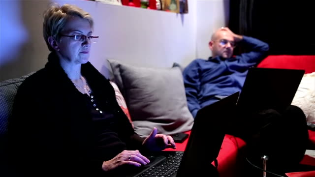 one is usually quite evening at home,Everyone looks at their laptop without communications