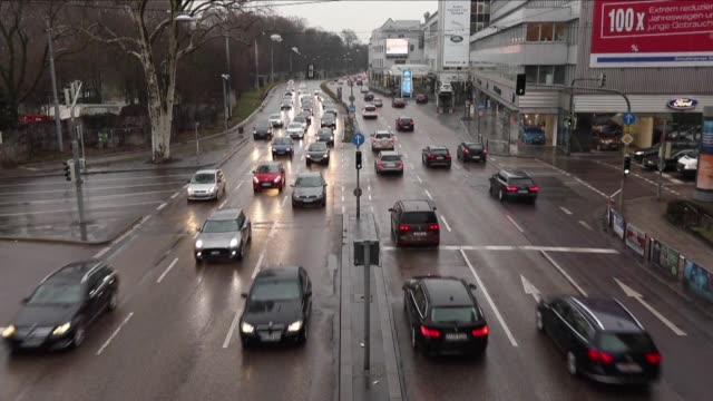 one of germany's top courts will decide thursday whether some diesel vehicles can be banned from parts of cities like stuttgart and duesseldorf to... - on top of stock videos & royalty-free footage