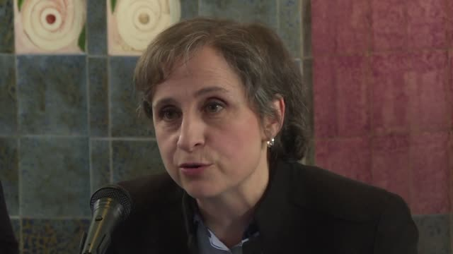 one of mexico's most outspoken journalists carmen aristegui announces her return to the radio three years after being fired following her publication... - publication stock videos & royalty-free footage
