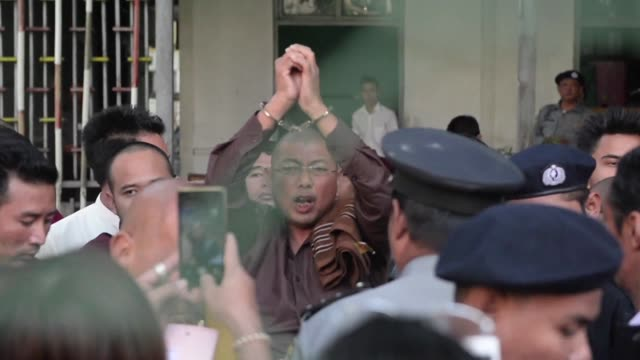 one of myanmar's most prominent ultranationalist monks is denied bail again after he was arrested on charges of inciting unrest in an anti rohingya... - rohingya culture stock videos and b-roll footage