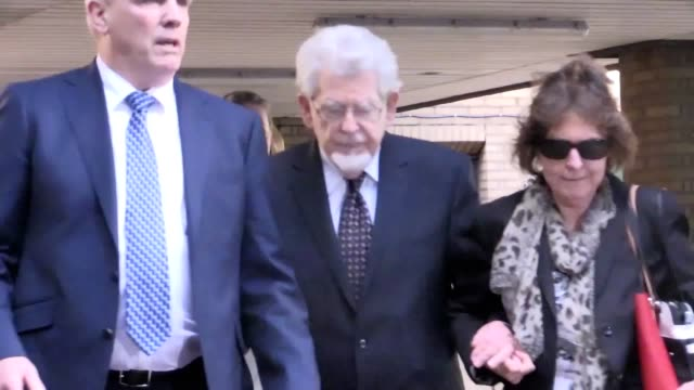 """one of rolf harris's alleged victims said she is speaking out for """"vindication and justice"""" as the entertainer sat in court for the first day since... - cricket stump stock videos & royalty-free footage"""