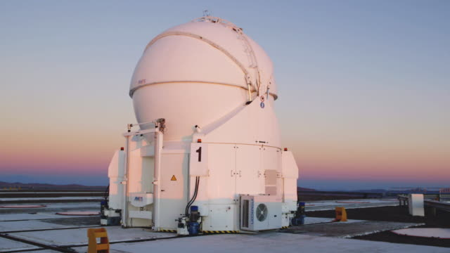 ms one of the auxiliary telescopes at paranal observatory / chile - four objects stock videos & royalty-free footage