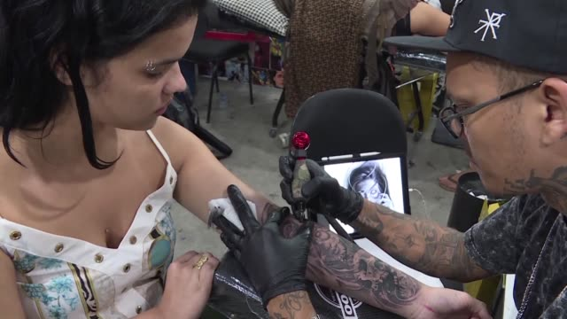 One of the biggest tattoo fairs in Latin America known as Tattoo week takes place in Rio de Janeiro with some artists offering free tattoos to...