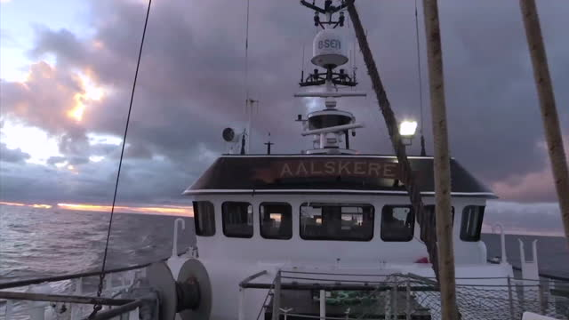 one of the businesses hoping for some radical change as a result of the brexit vote is the fishing industry sky news reporter joe tidy is on board a... - trawler stock videos & royalty-free footage