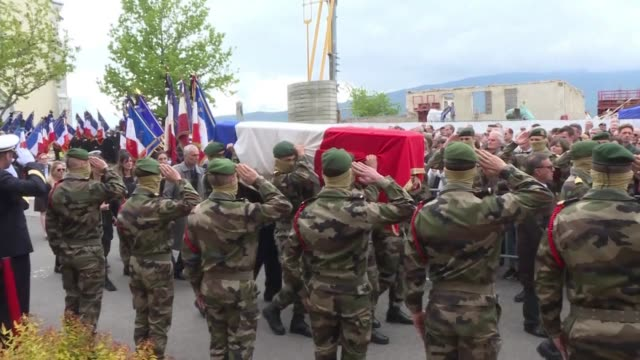 FRA: Funeral for French commando killed in Burkina hostage rescue
