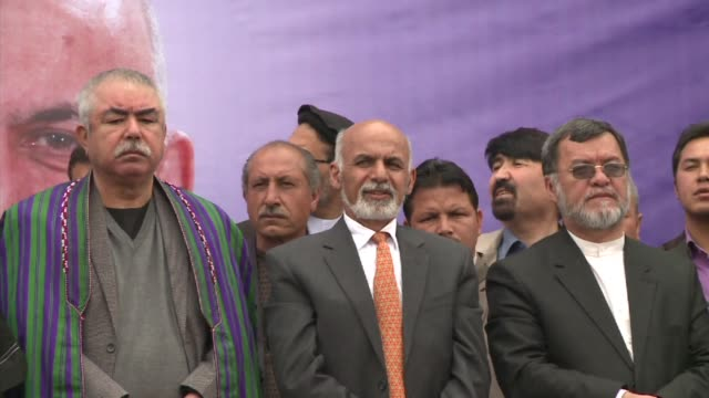 one of the frontrunner candidates of the afghan election former world bank economist ashraf ghani held a rally in kabul on tuesday saying that the... - kabul stock videos & royalty-free footage