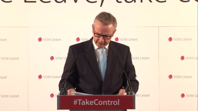 one of the heavyweights of the vote leave campaign has set out his vision for the uk outside the eu michael gove said the economy would thrive and... - michael gove stock-videos und b-roll-filmmaterial
