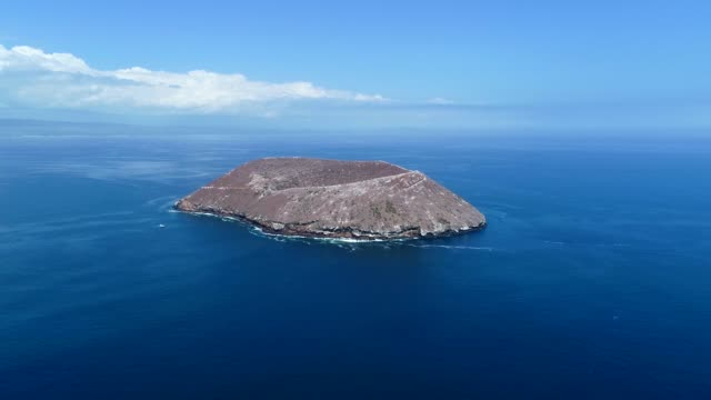 one of the islands surrounded by the sea in galapagos islands - galapagos islands stock videos & royalty-free footage