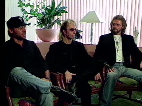 one of the members of the bee gees says he and his brothers always wanted to be famous someday. - the bee gees bildbanksvideor och videomaterial från bakom kulisserna