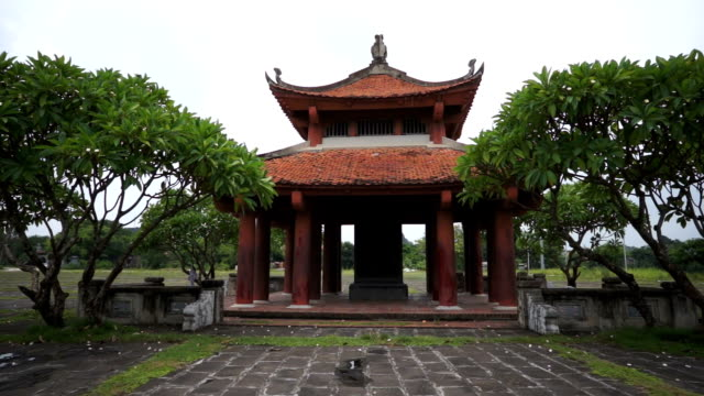one of the pagodas in hoa lu temple - traditionally vietnamese stock videos & royalty-free footage
