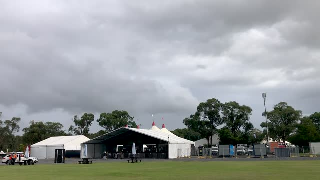 one of the tent stages for bluesfest on march 31, 2021 in byron bay, australia. nsw health minister brad hazzard signed a public health order... - tent stock videos & royalty-free footage