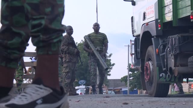 one person died sunday after mutinous soldiers took to the streets in ivory coast's central second city bouake as fresh tensions gripped the world's... - côte d'ivoire stock videos & royalty-free footage