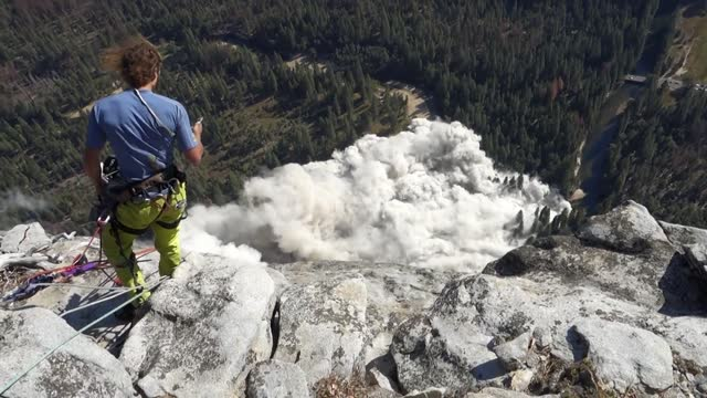 one person was killed and another injured in a rockslide on el capitan in yosemite national park, california, on wednesday, september 27. climber... - californian sierra nevada stock videos & royalty-free footage