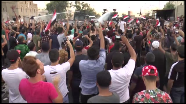 one protester was killed friday during demonstrations in iraq's southern city of najaf as rallies continued across the country against economic woes... - najaf stock videos & royalty-free footage