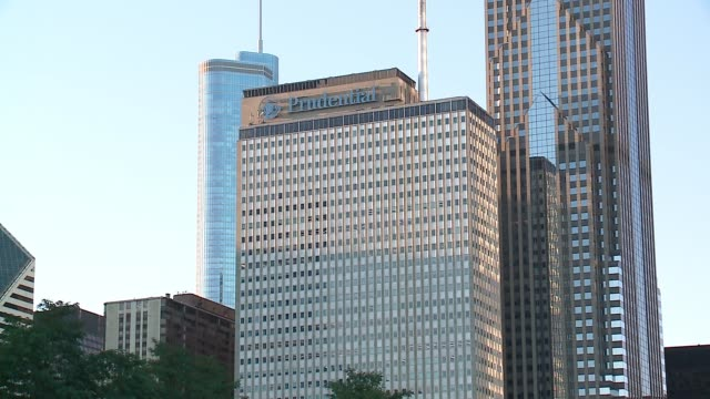 one prudential plaza building in chicago on september 20, 2016. - one prudential plaza stock videos & royalty-free footage