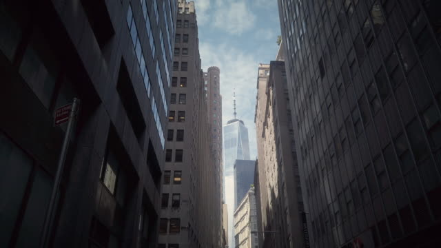 one world trade center in between skyscrapers - 2000s style stock videos & royalty-free footage