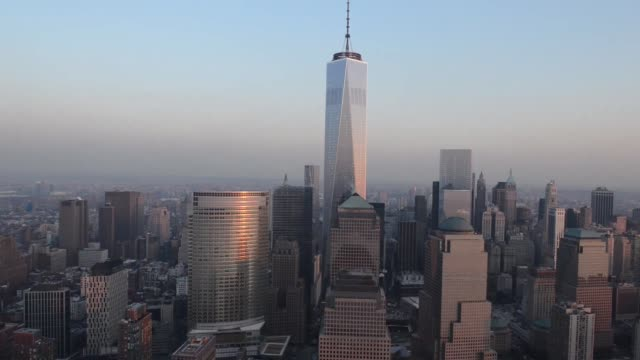 one world trade center stands in downtown manhattan in this aerial photograph taken with a tiltshift lens in new york us on tuesday dec 3 2013 one... - tilt stock videos and b-roll footage