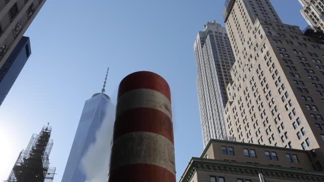 vídeos de stock e filmes b-roll de one world trade centre, manhattan, new york city, new york, usa, north america - world trade centre manhattan