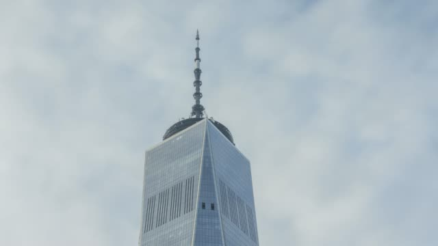one wtc cloud time lapse - new york - curtain wall facade stock videos and b-roll footage