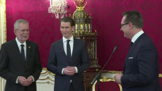 vídeos de stock, filmes e b-roll de one year after a corruption scandal brought down austrian chancellor sebastian kurz's government with the farright the coronavirus crisis has boosted... - profil