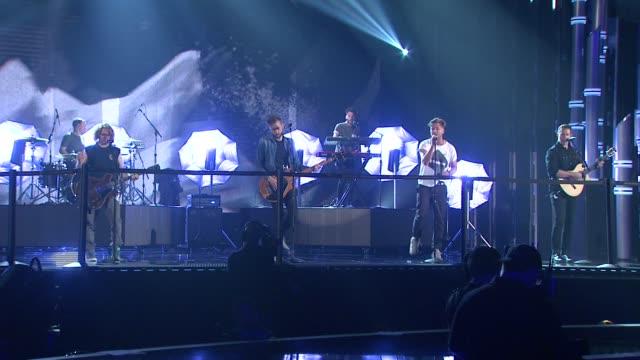 PERFORMANCE OneRepublic rehearsal Billboard Music Awards 2014 Rehearsals Day 2 on May 17 2014 in Las Vegas Nevada