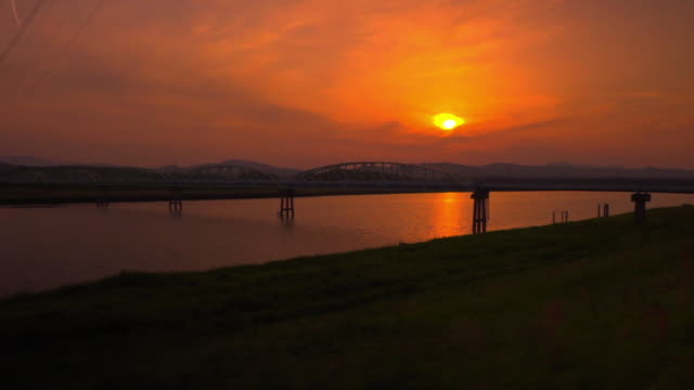 POV, Onga River In Evening Glow, Fukuoka, Japan