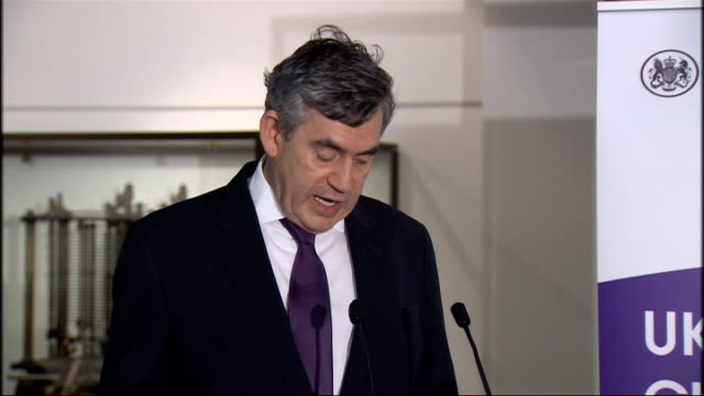 gordon brown visits science museum / delivers speech gordon brown speech continued sot others argue it is for parents to take responsibility for... - pms stock videos and b-roll footage