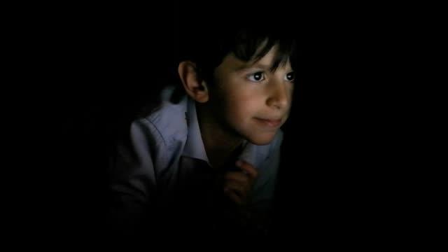 Online child Teen in His Bedroom