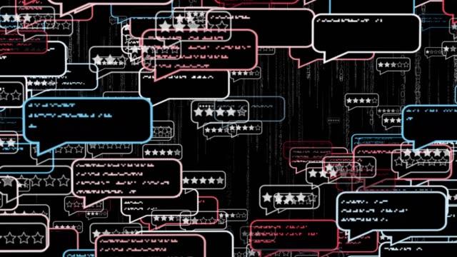online communication social media speech bubbles  support service - social media stock videos & royalty-free footage
