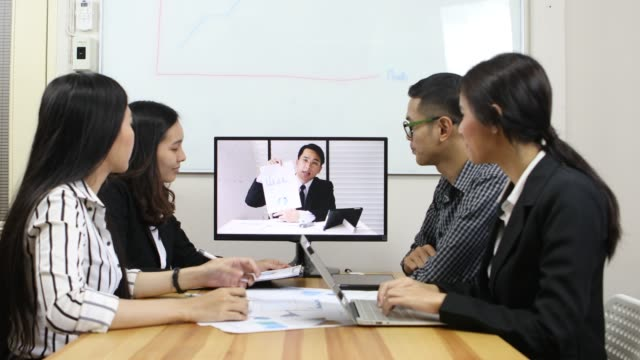 online meeting - video conference stock videos & royalty-free footage
