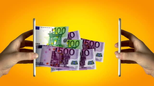 online money transfer - 4k resolution - online banking video stock e b–roll